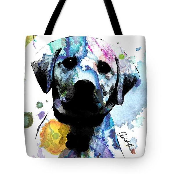 48x44 Labrador Puppy Dog Art- Huge Signed Art Abstract Paintings Modern Www.splashyartist.com Tote Bag