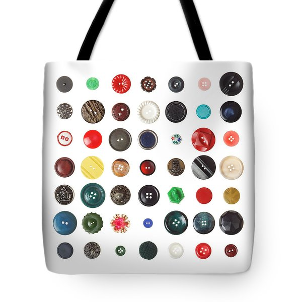 49 Buttons Tote Bag