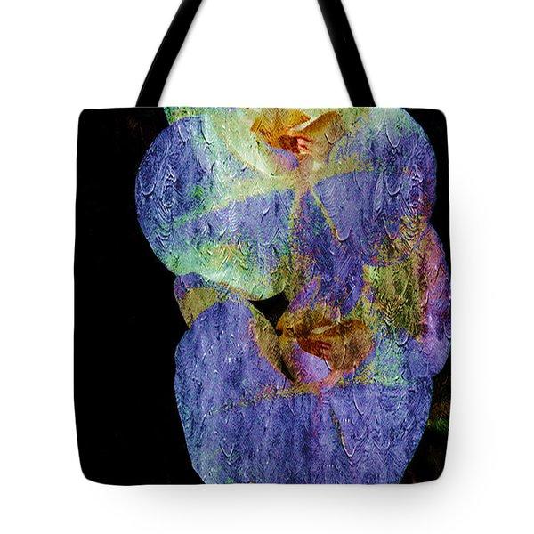 Orchids In Blue Violet Tote Bag