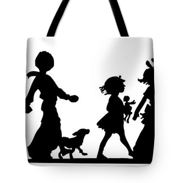 4th Of July Childrens Parade Panorama Tote Bag