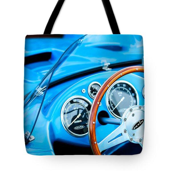 1959 Devin Ss Steering Wheel Tote Bag by Jill Reger