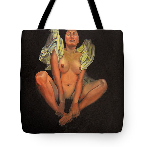 Tote Bag featuring the painting 5 30 A.m. by Thu Nguyen