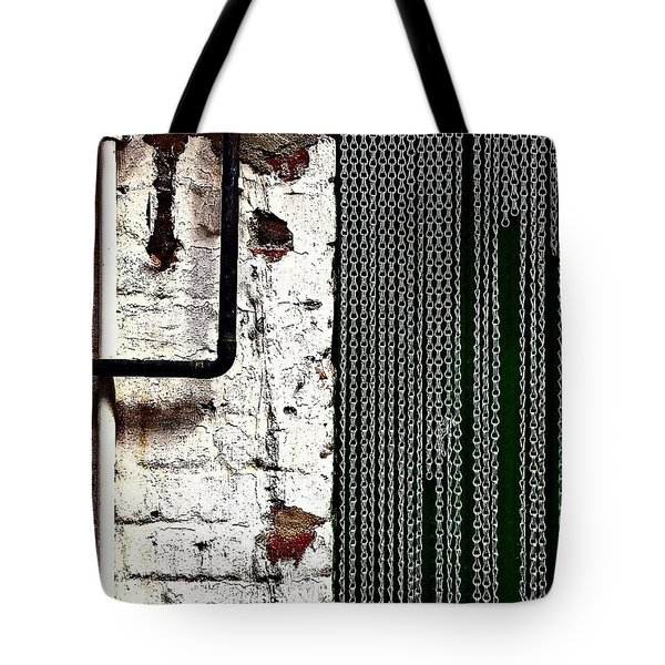 Chain Door Tote Bag by Jason Michael Roust