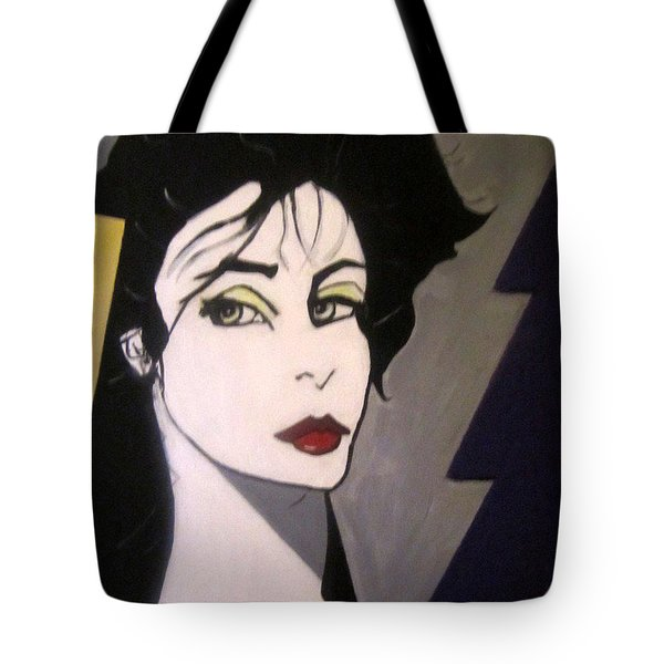 Tote Bag featuring the painting Art Deco by Nora Shepley