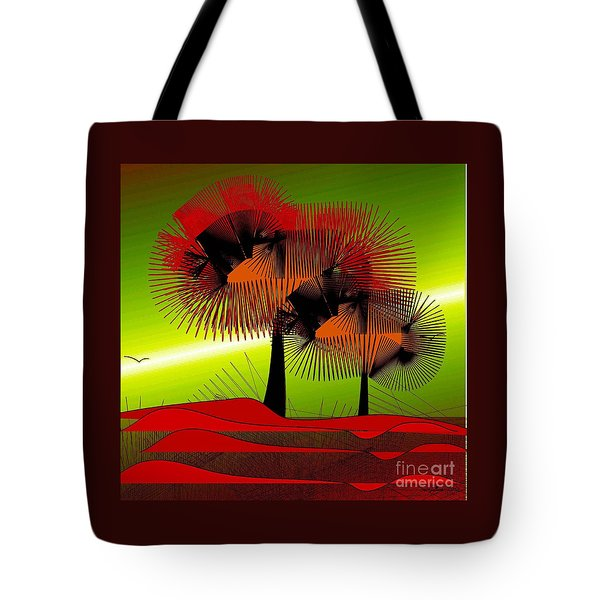 Tote Bag featuring the digital art Autumn Colours by Iris Gelbart