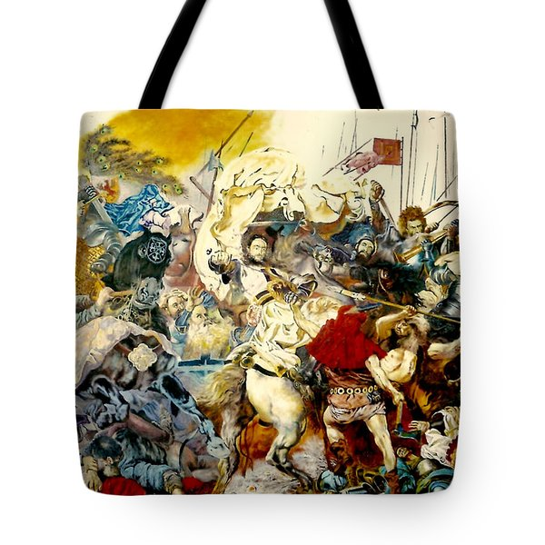 Battle Of Grunwald Tote Bag by Henryk Gorecki