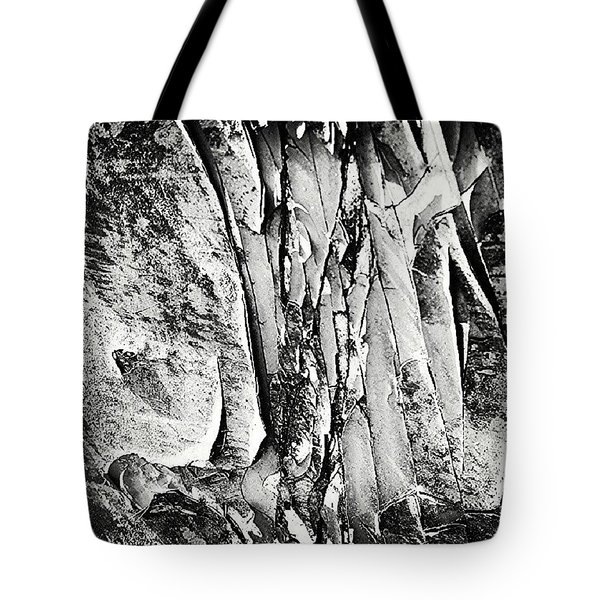 Flaky Paint Black 'n' White Tote Bag