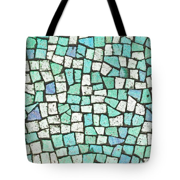 Blue Tiles Tote Bag by Tom Gowanlock