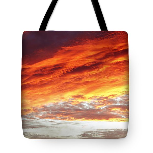 Bright Sky Tote Bag by Les Cunliffe