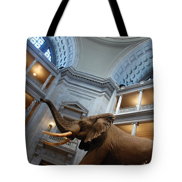 Bull Elephant In Natural History Rotunda Tote Bag