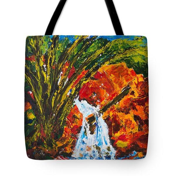 Burch Creek Waterfall Tote Bag
