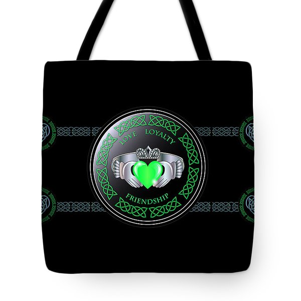Celtic Claddagh Ring  Tote Bag