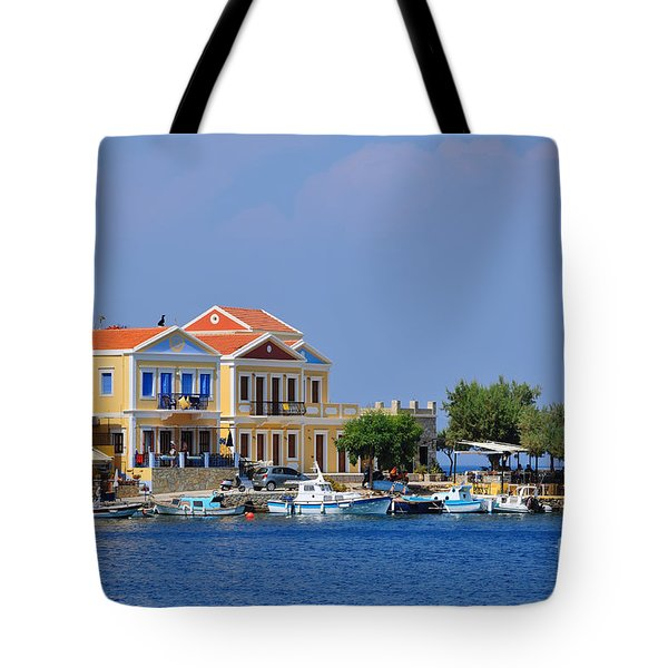 Colorful Symi Tote Bag