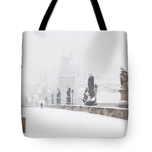 Czech Republic, Prague - Charles Bridge Tote Bag