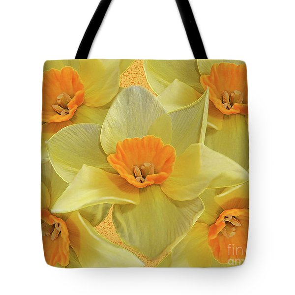 5 Daffy's On Parade Tote Bag by Andee Design