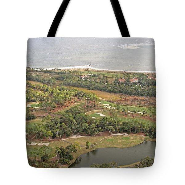 East Coast Aerial Near Jekyll Island Tote Bag by Betsy Knapp