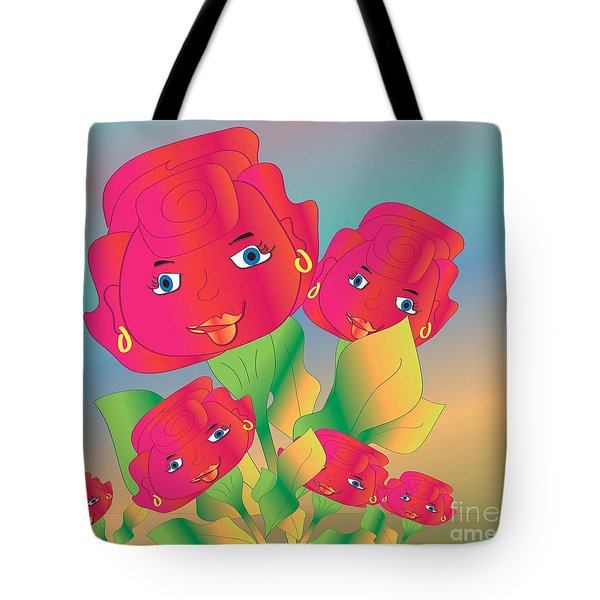 Tote Bag featuring the digital art Family by Iris Gelbart