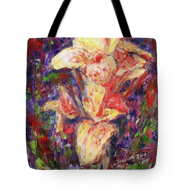 Tote Bag featuring the painting First Lady by Xueling Zou