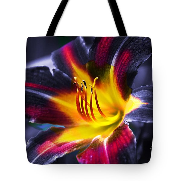 Flower Burst Tote Bag by Gunter Nezhoda