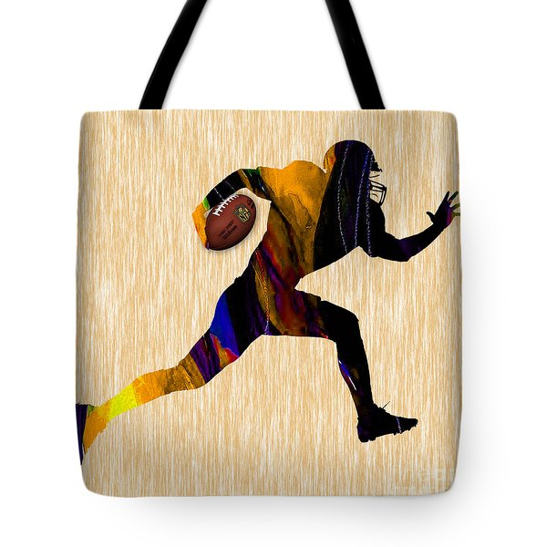 Football Tote Bag by Marvin Blaine