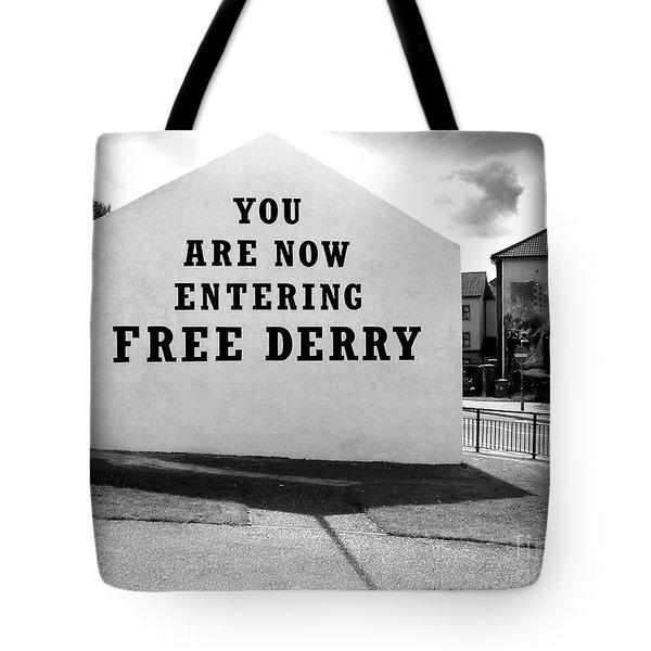 Free Derry Corner 5 Tote Bag