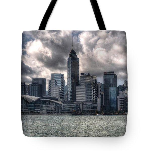 Tote Bag featuring the photograph Hong Kong Harbour by Joe  Ng