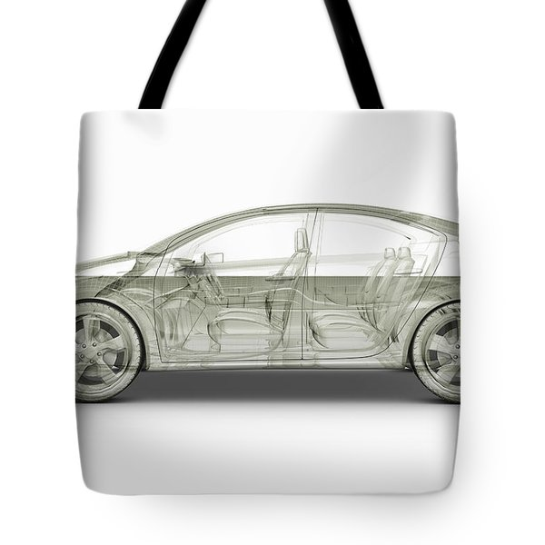 Hybrid Car Tote Bag