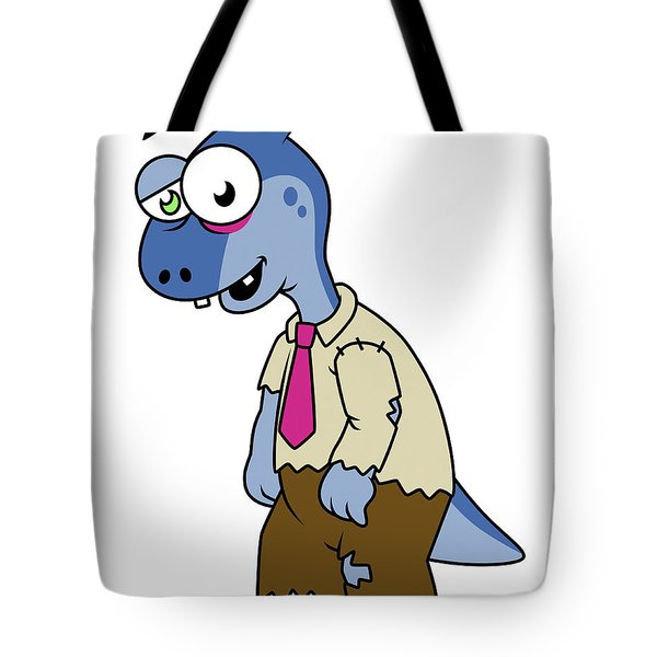 Illustration Of A Parasaurolophus Tote Bag by Stocktrek Images