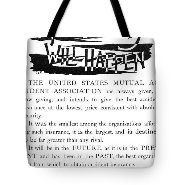 Insurance Advertisement Tote Bag