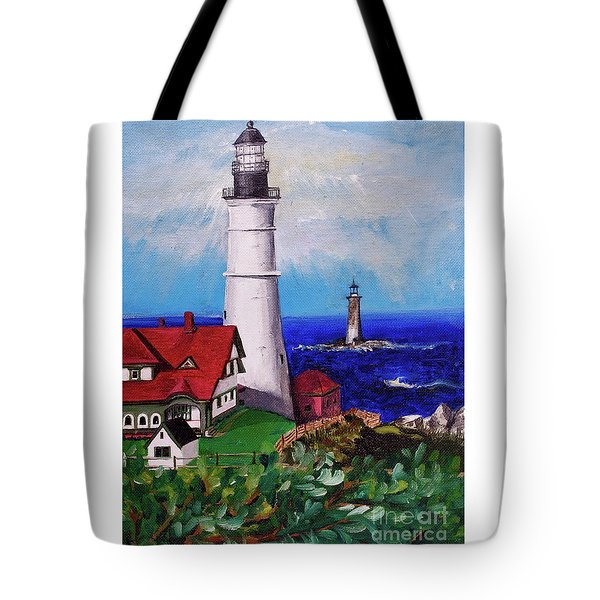 Lighthouse Hill Tote Bag