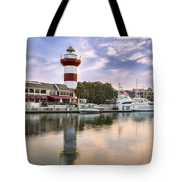 Lighthouse On Hilton Head Island Tote Bag