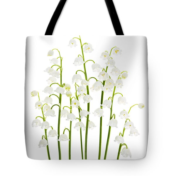 Lily-of-the-valley Flowers  Tote Bag by Elena Elisseeva