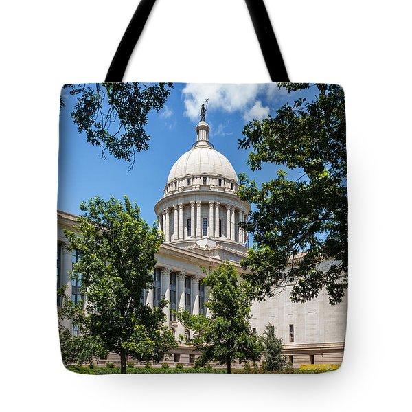 Oklahoma State Capital Tote Bag