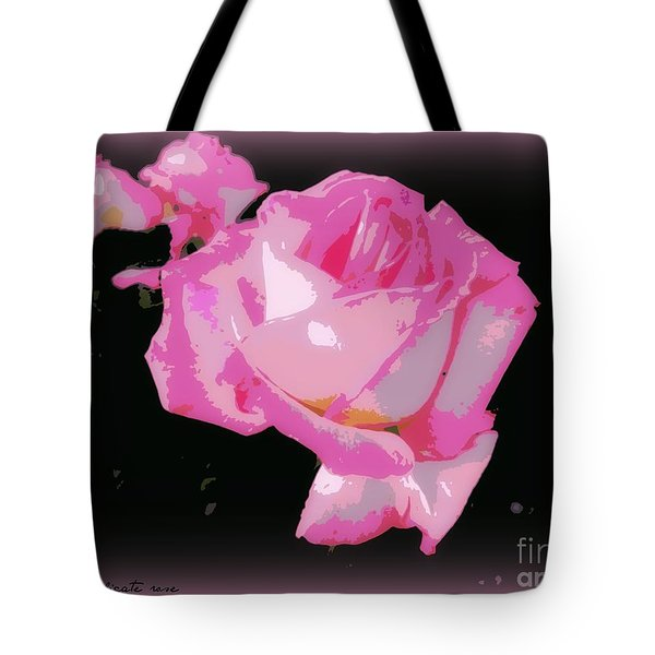 Tote Bag featuring the photograph Pink Rose by Leanne Seymour