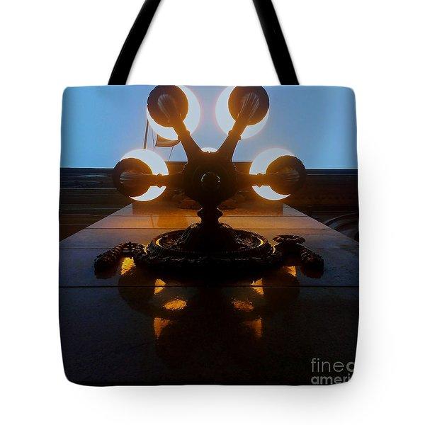 5 Points Of Light Tote Bag by James Aiken