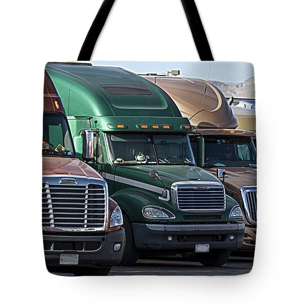 Semi Truck Fleet Tote Bag