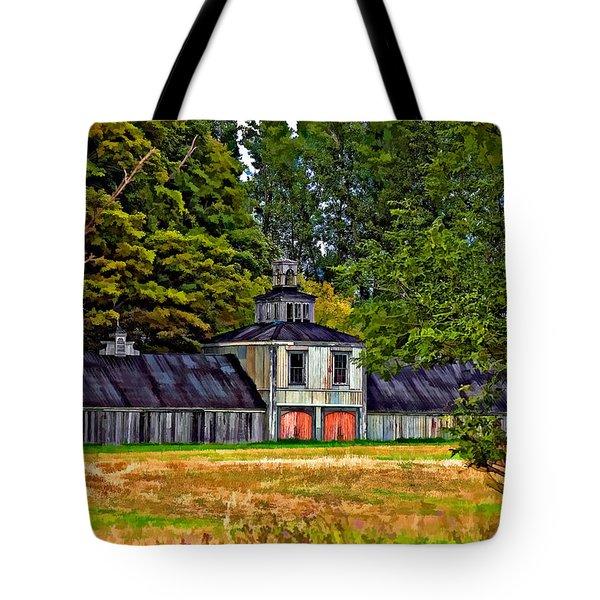 5 Star Barn Paint Filter Tote Bag by Steve Harrington