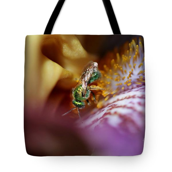 Tall Bearded Iris Named Final Episode Tote Bag