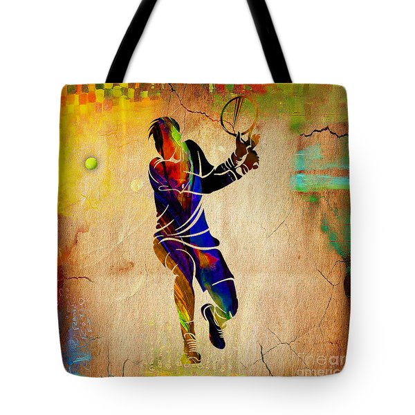 Tennis Tote Bag by Marvin Blaine