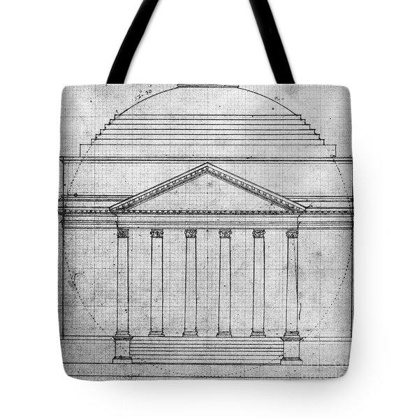 Tote Bag featuring the photograph University Of Virginia by Granger