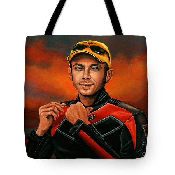 Valentino Rossi  Tote Bag by Paul Meijering