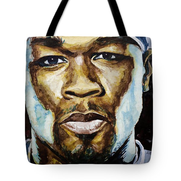 Tote Bag featuring the painting 50 Cent by Laur Iduc