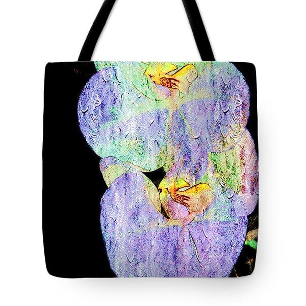 Orchids In Violet Blue Tote Bag