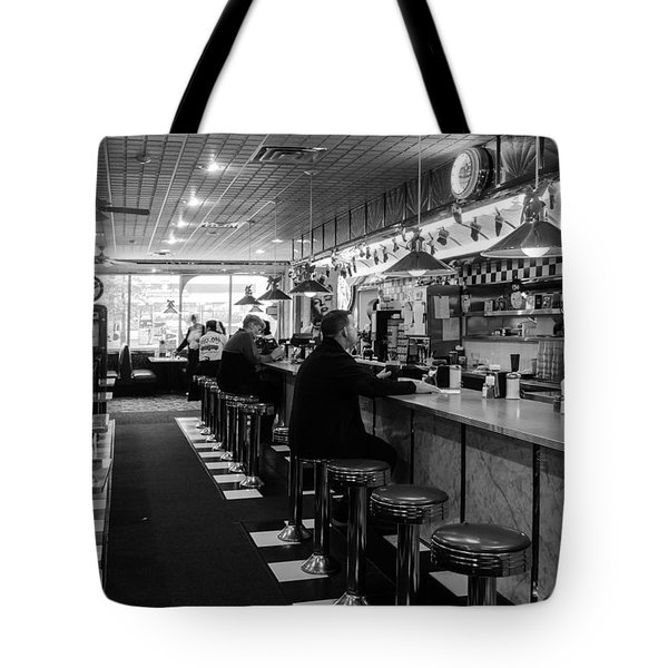 Tote Bag featuring the photograph 50s Diner by Betty Denise
