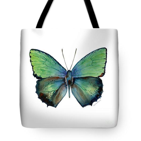 52 Arhopala Aurea Butterfly Tote Bag