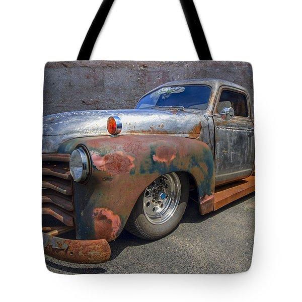 52 Chevy Truck Tote Bag by Debra and Dave Vanderlaan