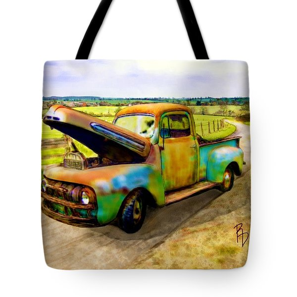 52 Ford F3 Pick-up Truck Tote Bag
