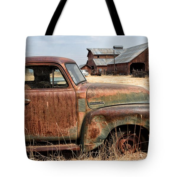 '54 Chevy Put Out To Pasture Tote Bag