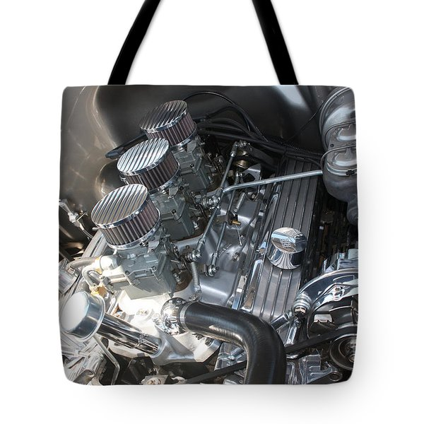 55 Bel Air Engine-8202 Tote Bag by Gary Gingrich Galleries