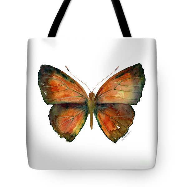 56 Copper Jewel Butterfly Tote Bag